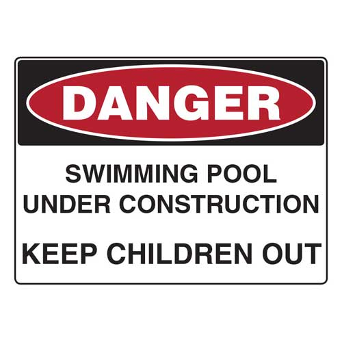 Swimming Pool Under Construction | Safety Signs Direct