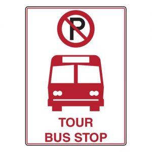 Tour Bus Stop signs