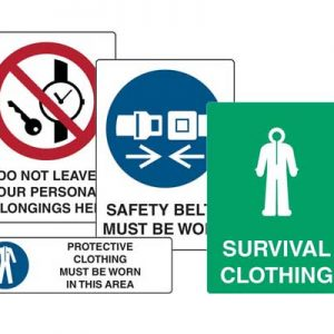 Clothing Signs