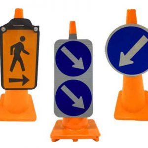 Cone Mounted Road Signs