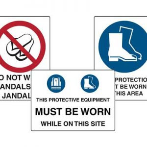 Foot Protections Signs