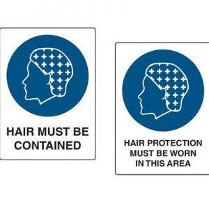 Hair Protection Signs