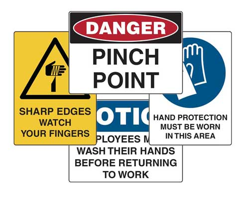 safety hazard signs
