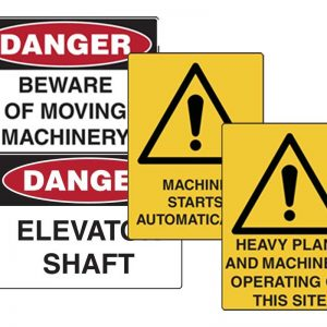 Machine Operations Signs