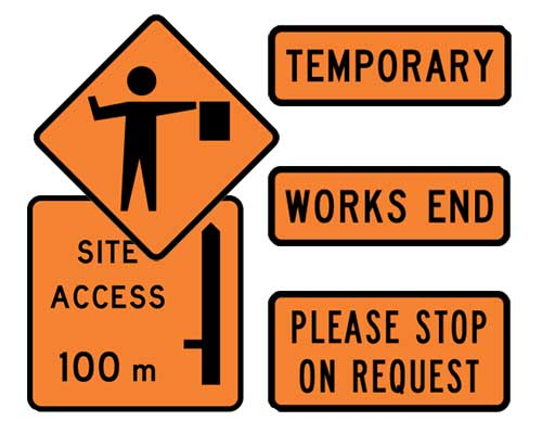 Driving Road Work Signs Safety Signs