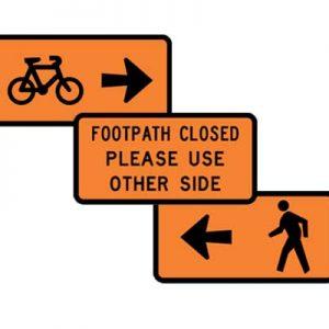Pedestrian Cylist Signs