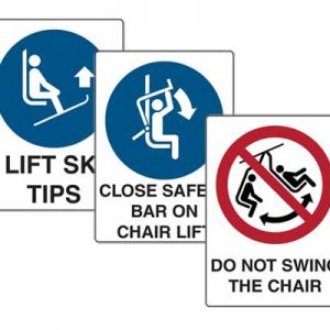 Skiing Safety Signs