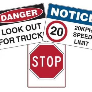 Vehicle Safety Signs