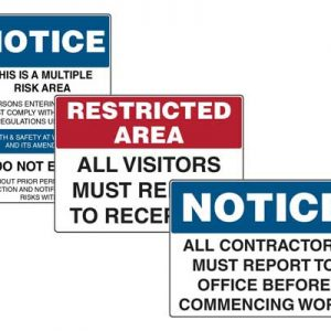 Visitors & Contractor Signs