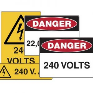 Voltage Rating Sign